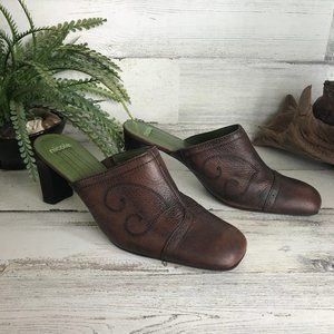 Nicole 'Odell' Brown Western style Booties [598s3]